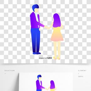 兩個握手的人