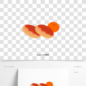 手繪風格食物面包水果