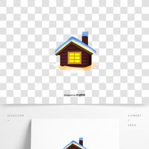 冬季房屋建筑积雪