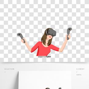 女孩VR眼鏡體驗