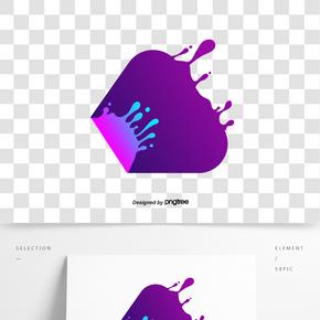 紫色抽象流體邊框