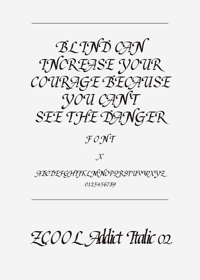 站酷意大利体02装饰/创意英文ttf字体下载