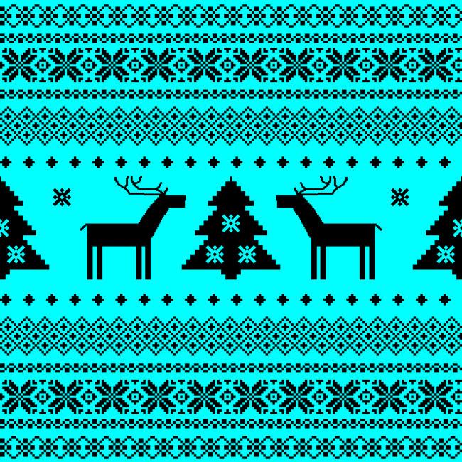 圣诞节针织花纹素材