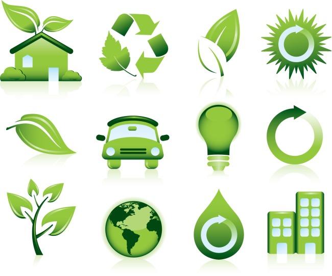 低碳生活图标矢量图免费下载