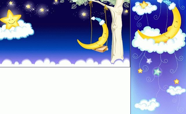 ai星星月亮卡通矢量图