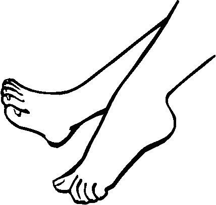 人物脚矢量图