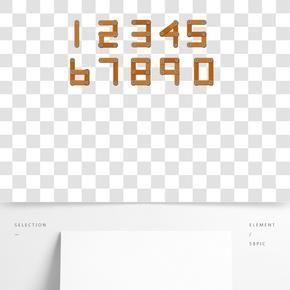 工業風木板釘子質感0-9數字