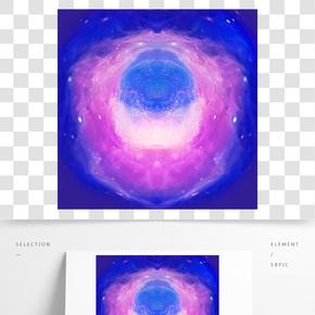 抽象酷炫彩色的星星