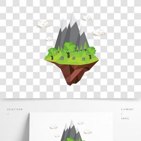 2D插畫山丘矢量素材