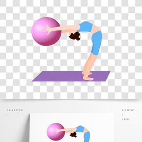 做瑜伽的女人矢量素材
