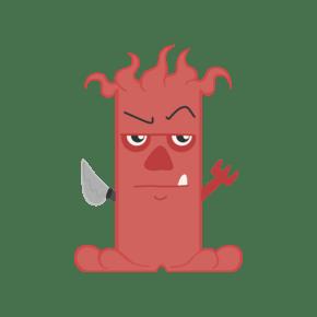 红色小恶魔矢量素材