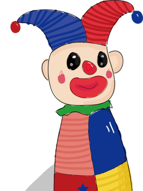 儿童节愚人节小丑玩具可爱卡通插画AI