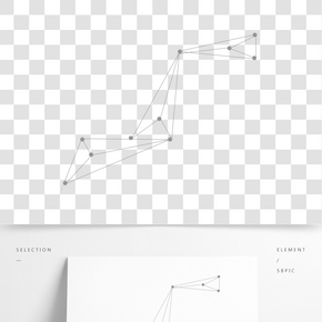 科技點線圖形矢量元素
