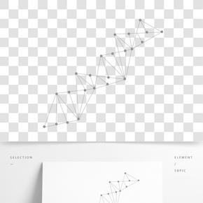 點線幾何圖形元素