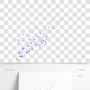 藍色點線矢量圖元素