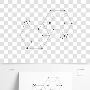 創意點線線條圖形元素