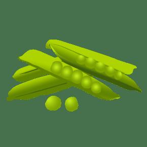 豌豆卡通手绘蔬菜