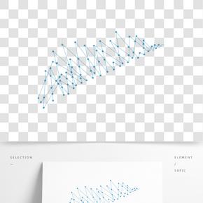 藍色點線幾何圖形矢量元素