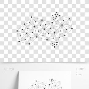 點線科技幾何圖形元素
