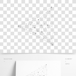 點線幾何圖形矢量元素