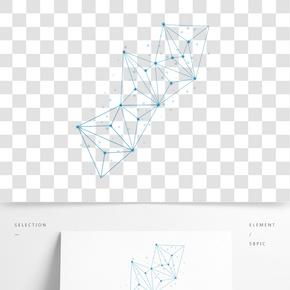 抽象點線幾何圖形元素