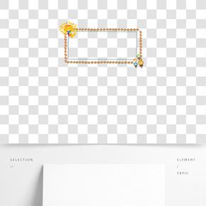 創意卡通糖果邊框設計素材