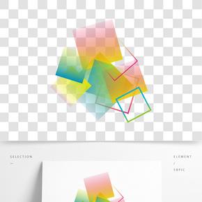 矢量幾何漸變科技素材