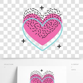 矢量可愛的心形裝飾圖案
