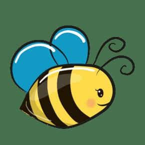 手绘卡通可爱的小蜜蜂