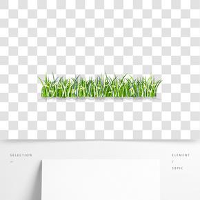 綠色系草叢花朵免扣元素