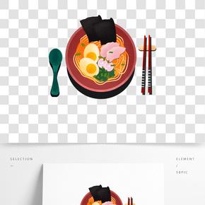 舌尖上的美味之手繪卡通拉面設計