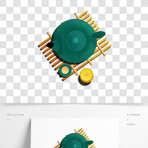 美食廣告海報之卡通手繪茶點插畫