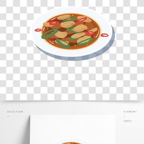 中國傳統美食之卡通手繪小炒肉