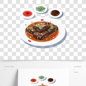 中國傳統美食之卡通手繪臭豆腐