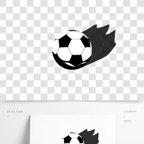 中国风泼墨光圈世界杯足球