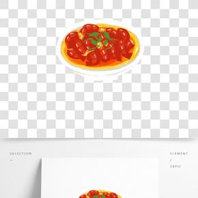 中華傳統美食之手繪美味可口小龍蝦插畫