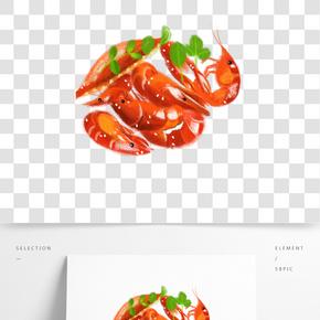 手繪中華傳統美食之小龍蝦