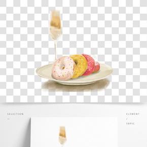 餐飲廣告之甜甜圈手繪設計