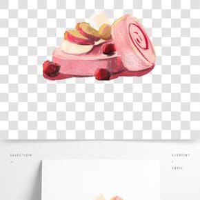餐飲廣告之美味甜點蛋糕卡通設計