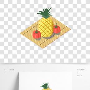 餐飲廣告之卡通美味新鮮蔬果