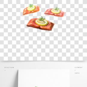 餐飲廣告之美味可口的食物卡通設計