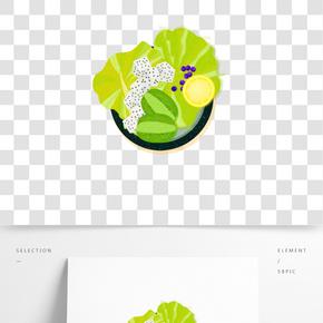 餐飲廣告之卡通沙拉設計