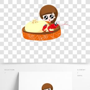 餐飲廣告之可愛卡通設計插畫