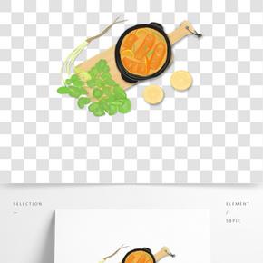卡通美味佳肴創意餐飲廣告海報插畫