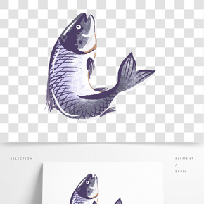 餐飲廣告之卡通生鮮魚設計
