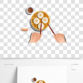茶樓經典美食之卡通小籠包設計
