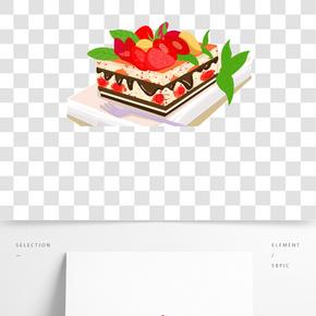 甜品廣告海報之草莓巧克力蛋糕