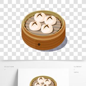 茶樓傳統美食之叉燒包手繪