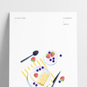 餐飲廣告之甜點蛋糕創意設計
