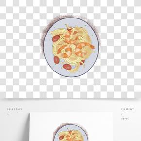 餐飲廣告之美味意粉卡通設計